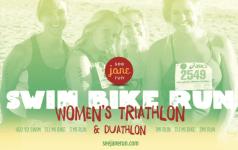 Run for a Cause - See Jane Run Triathlon & Duathlon registration logo