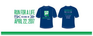 Run for a Life 5k registration logo