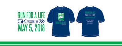 Run For A Life 5k RUN/WALK registration logo