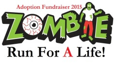 Run for A LIFE- zombie 5k registration logo