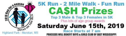 Run For A Reason 5K Run - 2 Mile Walk - Fun Run registration logo