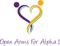 VIRTUAL Run For Alpha 1 registration logo