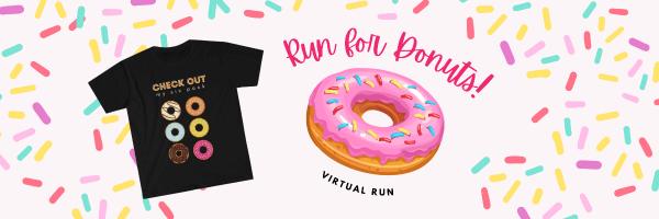 Run for Donuts Virtual Race registration logo