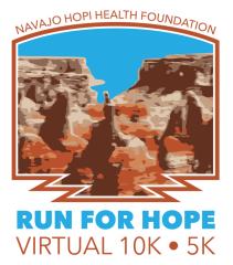 Run for Hope 2021 registration logo