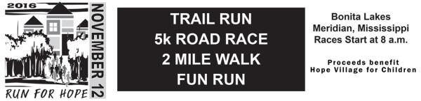 Run For Hope registration logo