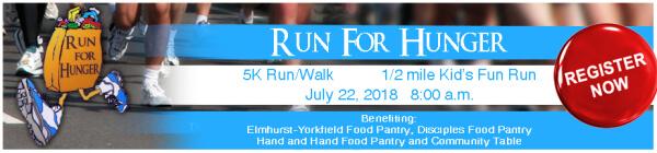 Run for Hunger- 5K registration logo