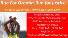 Run for Oromia - Run for Human Right registration logo