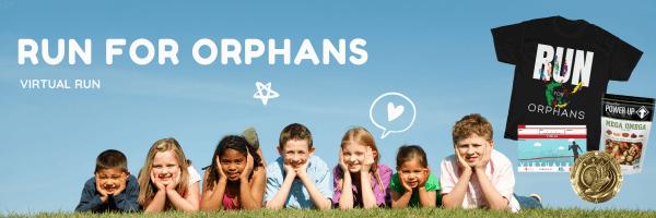 Run for Orphans Virtual Race registration logo