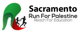 Run for Palestine Reach for Education Sacramento, CA registration logo