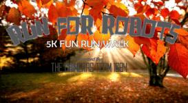 Run for Robots 5K run/walk registration logo