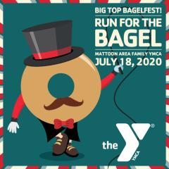 Run for the Bagel registration logo