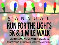 Run for the Lights 5k / 1 mile walk registration logo