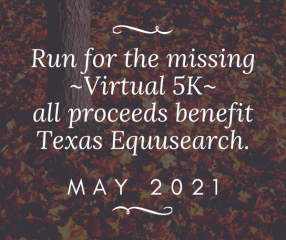 Run for the Missing Virtual Race registration logo