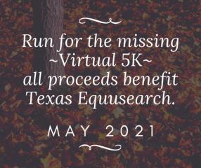 Run for the Missing Virtual Race registration logo