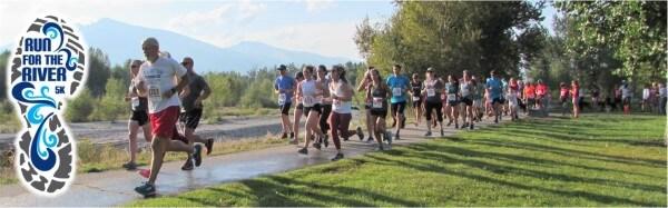Run for the River 5K registration logo
