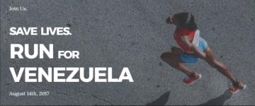 Run for Venezuela registration logo