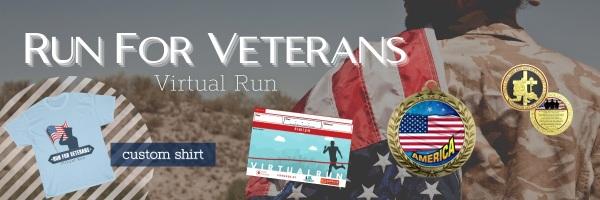 Run for Veterans Virtual Race registration logo