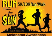 Run From The Sun Melanoma Awareness 5k/10k  registration logo