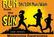 Run From The Sun Melanoma Awareness 5k/10k  registration logo
