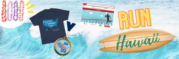 Run Hawaii Virtual Marathon registration logo