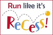Run Like it's Recess - Aurora registration logo