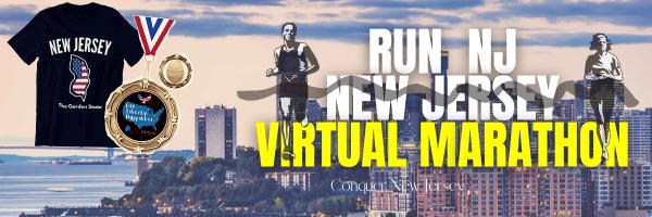 Run NJ New Jersey Virtual Marathon registration logo