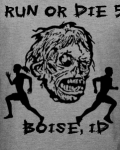 Run or Die Zombie 5k Meridian  registration logo