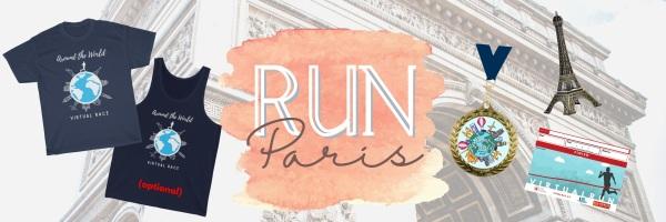 Run Paris Virtual Marathon registration logo