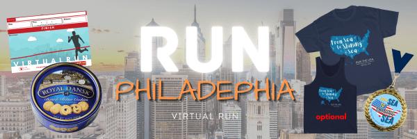 Run Philadephia Virtual Race registration logo