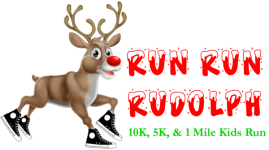 Run Run Rudolph 10K, 5K, & 1 Mile Kids Run registration logo