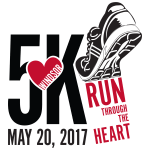 Run Through the Heart 5k registration logo