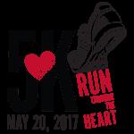 Run Through the Heart 5k registration logo