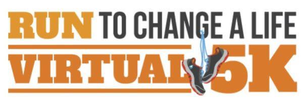 Run to Change a Life Virtual 5k registration logo