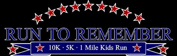Run to Remember 10K, 5K, & 1 Mile Kids Run registration logo
