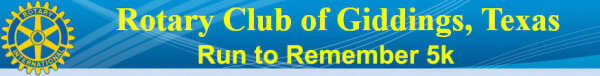 Run to Remember - Giddings registration logo