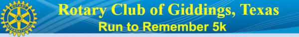 Run to Remember - Giddings registration logo