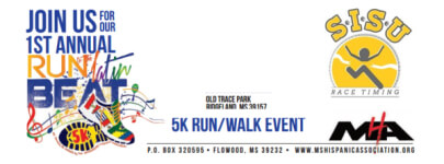 Run To The Latin Beat 5K registration logo