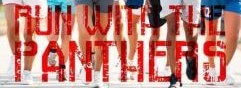 RUN WITH THE PANTHERS 5K RUN/WALK registration logo