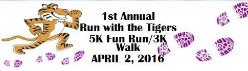 Run with the Tigers Fun Run registration logo