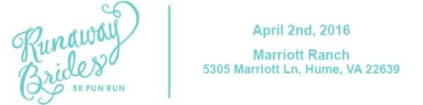 Runaway Brides 5k Fun Run registration logo