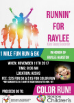 Runnin' For Raylee 2017 registration logo