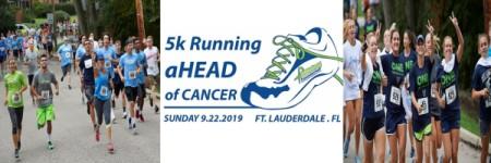 Running aHEAD of Cancer 5K registration logo