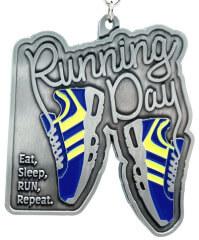 Running Day 1M 5K 10K 13.1 26.2 50K 50M registration logo