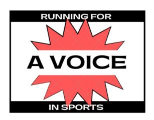 Running for a Voice in Sports - Hybrid 5K registration logo