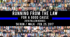Running from the Law registration logo