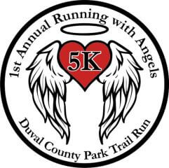 Running with Angel's 5k - Duval County Park Trail Run registration logo