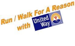 Run/Walk For A Reason with United Way registration logo