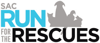 SAC Run for the Rescues registration logo