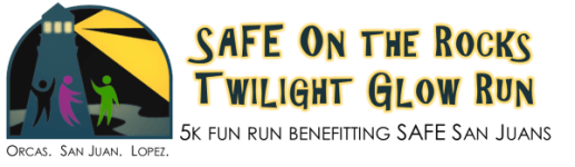SAFE on the Rocks Twlight Glow 5k  - Orcas Island registration logo