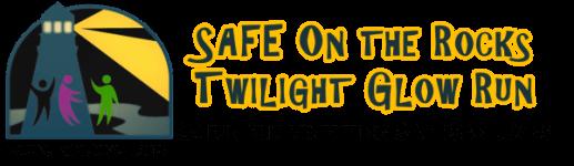 SAFE on the Rocks Twlight Glow 5k  - Orcas Island registration logo